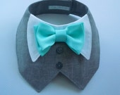 Tuxedo/Tux collar bib-style bandana for dogs or cats - custom made to order