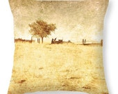 Art Throw Pillow Cover Alone photo Pillow Covers yellow tones light photography rustic coutry one tree home decor gold tan
