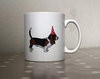 Basset Hound Ceramic Mug