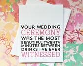 Wedding Card - Funny Wedding Card - Wedding Card for Friends - Funny Wedding Card - Wedding Gift Card