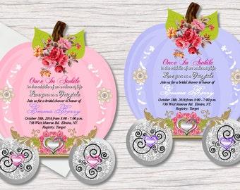 Fairytale Bridal Shower Invitations, Die Cut Wedding Invitation, Pumpkin Carriage, Wedding Invitations, Princess Invitation, Birthday, Party