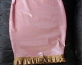 SAMPLE SALE 50% OFF - Latex Vanessa Skirt - Pearlsheen Rose with Gold