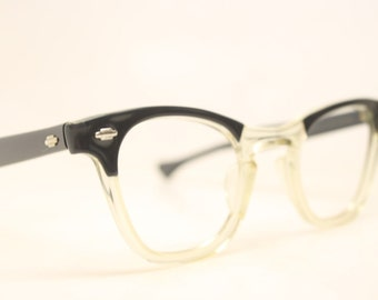 Cat Eye Glasses Blue Floral vintage cateye frames NOS