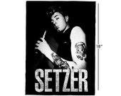 Setzer Back Patch - Rockabilly Brian Setzer Stray Cats inspired