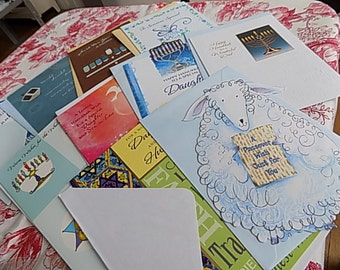 Hanukkah Passover Greeting Cards - set of 10 ASSORTED