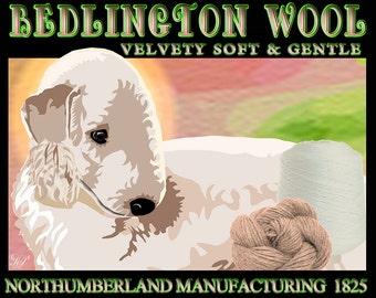 InstaFun, Bedlington Terrier, Comical Pet Art, Unique dog Art, Dog Lover Gift, Custom Dog Portrait, Dog Art Print, Fun Art, From Your Photos