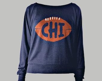 Chicago Bears Women's Scoopneck Raglan Sweatshirt