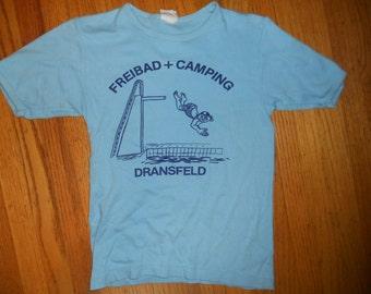 1970s Dransfeld Germany Camp  T shirt size Medium eurpean camping