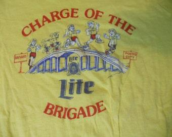 1970s 1980's Lite Beer San Francisco Bay Area Marathon t-shirt tee shirt size small