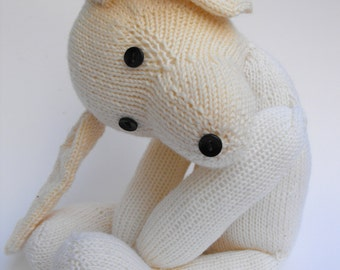 Rabbit Otto, hand knitted soft toy rabbit