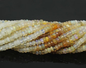 VALENTINE SALE 55% Welo Ethiopian Opal Smooth Polished Rondelle Beads Strand, 14 inches, 5mm, SKU14997/S