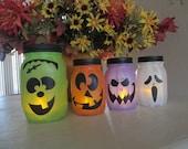 Halloween Monster Jars -- Halloween Decor - Halloween Decoration