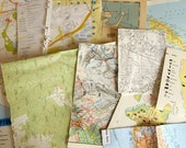 Reclaimed MAP PACK - for art journalers, collage artists, crafters etc. Mixed pack of modern, bright designs.