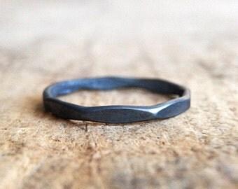 Black Marquis Ring, Black Silver, Black Sterling Silver, Black Diamond Ring, Marquise Jewelry, Gift For Mom, Diamond Shape, Bohemian Jewelry