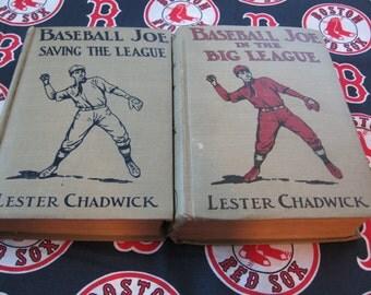 BASEBALL JOE Boy Series Books By Howard R. Garis aka Lester Chadwick Saving The League and In The Big League
