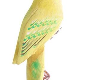 Vintage Woooden Handmade Parrot