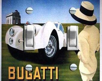 Vintage Bugatti Switch Plate (Single, Double)***FREE SHIPPING***