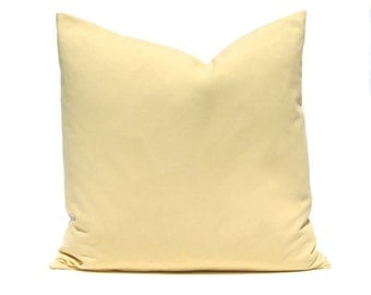 One Gold Throw Pillow Cover   Decorative Pillow Cover   Saffron Gold  Cushion Cover   Solid