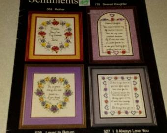 Cross Stitch Designs Booklet Treasured Sentiments