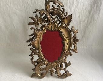 Antique victorian frame  ornate oval frame  nouveau frame
