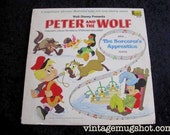 1969 Walt Disney Peter and The Wolf Vintage Vinyl lp Disneyland Records 3296  Album Sorcerer's Apprentice Mickey Mouse