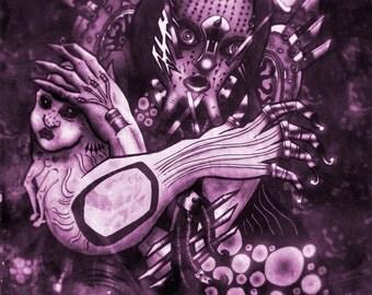 PRINT - VELL - Strange Monster Demon Odd Art Print