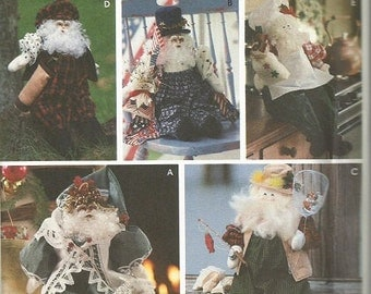 Simplicity 9869 Santa Doll and Clothes Pattern Vintage 1996