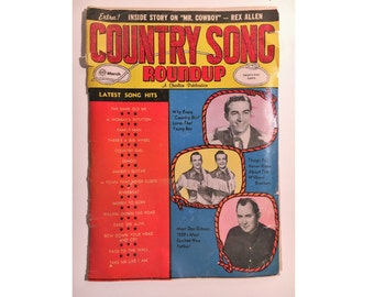 Country Song Roundup Magazine March, 1959 - Don Gibson, Rex Allen, Wilburn Bros