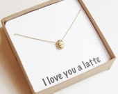 Latte Lover Gift | Latte Lover Necklace | But First Coffee | Coffee Charm Necklace | Coffee Bead Pendant | Coffee Lover Jewelry