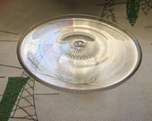 Vintage glass cake pie cup cake stand