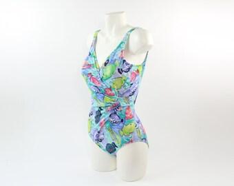 VINTAGE Fish Swimsuit One Piece Diane Von Furstenberg Small