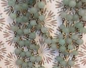 sale 6mm smooth round matte Aventurine natural gemstone beaded chain SEA GLASS style