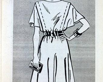 Size 18 20 22 Mail Order 4174 Dress Kimono Sleeves Fashion Vintage 1980s Full Figure Women Misses Uncut Sewing Pattern