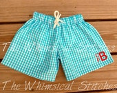 Personalized Boys Swimsuit - Boys Monogrammed Swimsuit - Boys Swim Trunks - Boys Monogram Swimsuit - Boys Bathing Suit