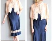 1940s Bed Jacket // Silk Darling Deb Jacket // vintage 40s lingerie bed jacket