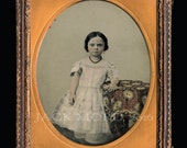 Large Ambrotype Adorable Little Georgia Girl by Rare & Important Civil War Photographer