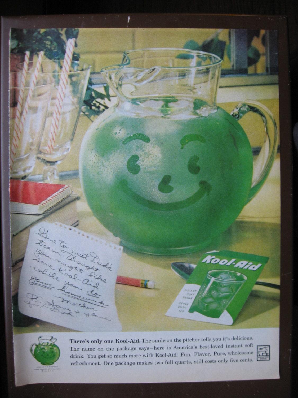 1960 Kool-Aid Print Ad Original Vintage Magazine Soft Drink |Magazine Ads 1960 Kool Aid