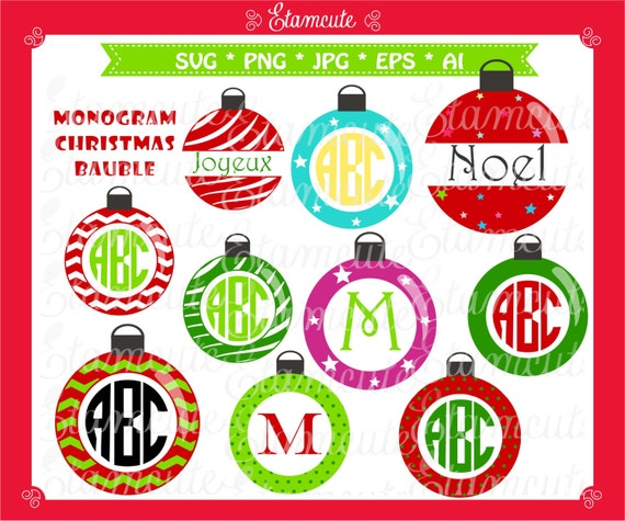 Items similar to monogram christmas svg cut files