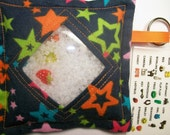 I Spy Bag Stars Neutral themed contents girls boys seek and find game,car travel toy, busy bag,quiet book, sensory occupational therapy