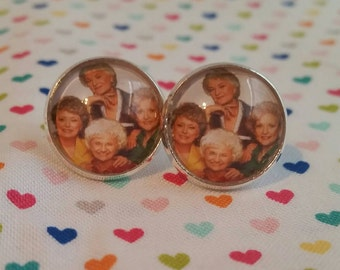 Golden Girls inspired large post earrings thank you for being a friend stocking stuffer under 10 dollars