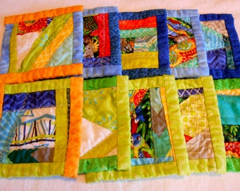 Beach Loving quilted set of ten coasters