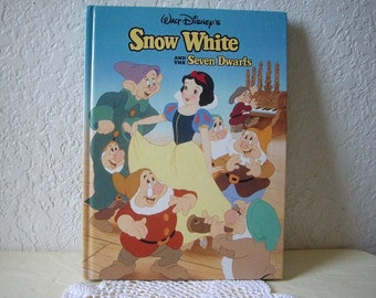 Book:  Walt Disney's Snow White and the Seven Dwarfs. Large hardcover, 1993. 1st ed