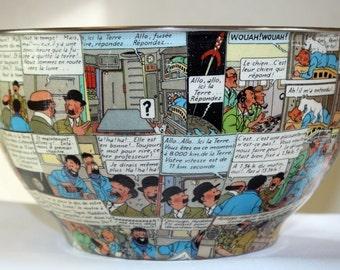 TinTin on the Moon Popcorn Bowl
