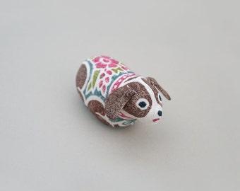 Woodblock Print Stuffed Toy, Dog