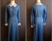 1930s dress 30s day dress great depression dust bowl 1930s day dress 1930-1931 rare R.H.Macy day dress