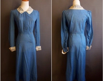 1930s dress 30s day dress great depression dust bowl 1930s day dress 1930-1931 rare R.H.Macy day dress Macy's dress