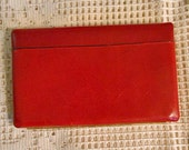 AVATAR FLAT LEATHER Wallet Rich Red Brown Mini Clutch, Multi Slots & Compartments Zippered Coin Purse, Lined Compartments, Brass Snap Frame