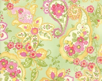 Colette - Floral Paisley in Leaf by Chez Moi for Moda Fabrics