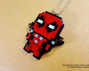 Deadpool Necklace (pixel 8bit)