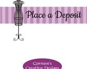 Place a Deposit - Custom Costume Design